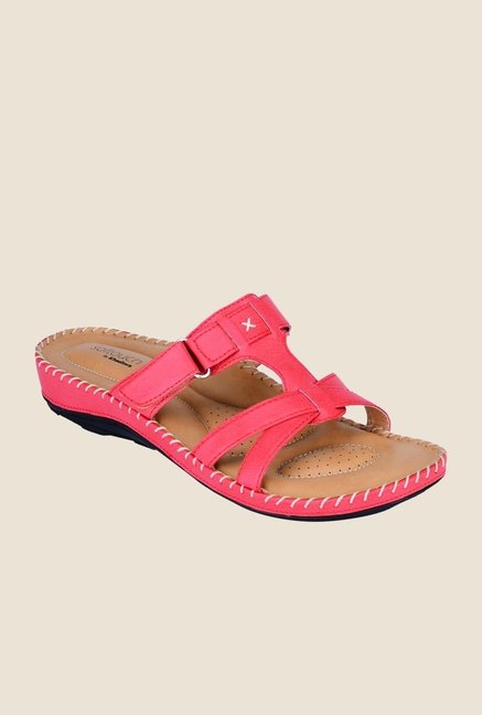 Khadim's Softouch Coral Slide Sandals
