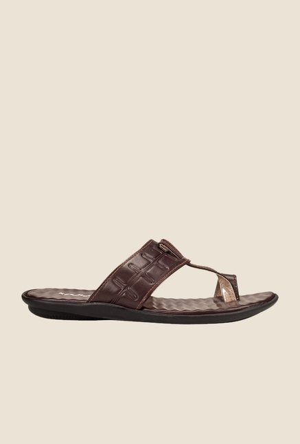 Khadim's Brown Toe Ring Sandals