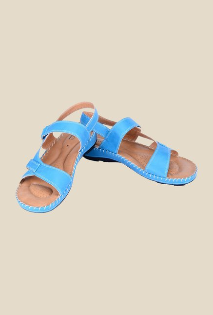 Khadim's Softouch Blue Ankle Strap Sandals