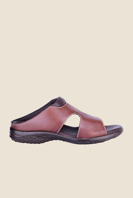 Khadim's British Walkers Brown Casual Sandals