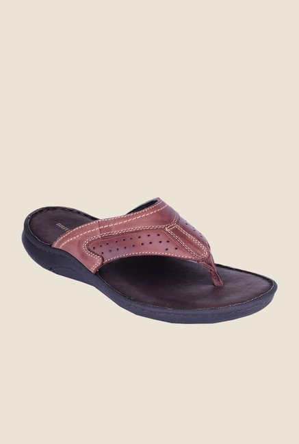 Khadim's British Walkers Brown Thong Sandals