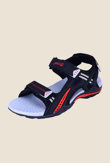 Khadim's Pro Black Floater Sandals