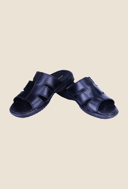 Khadim's British Walkers Black Casual Sandals