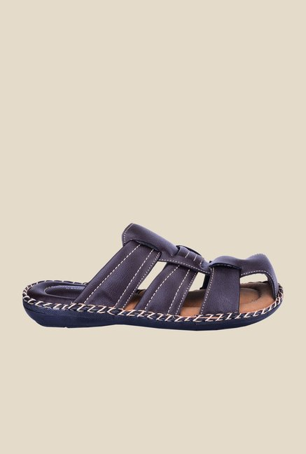 Khadim's Softouch Brown Casual Sandals