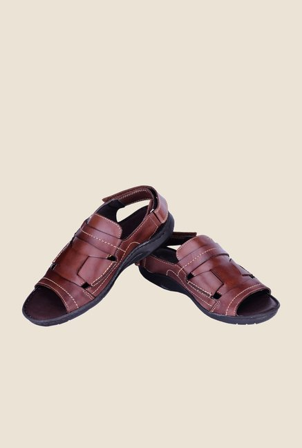 Khadim's British Walkers Brown Back Strap Sandals