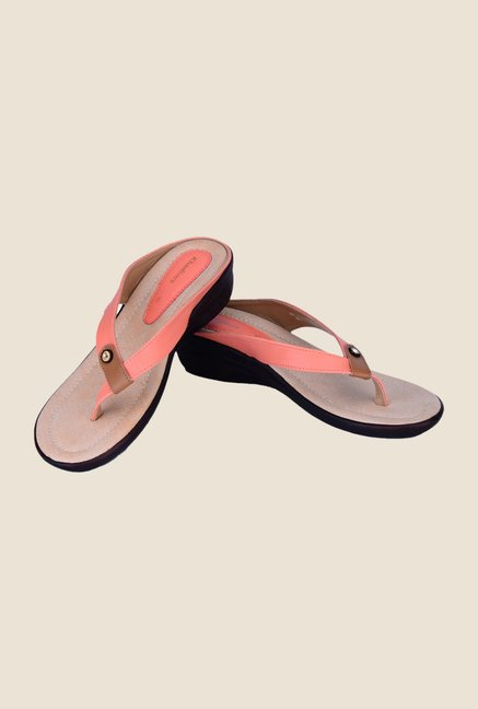 Khadim's Peach Thong Sandals