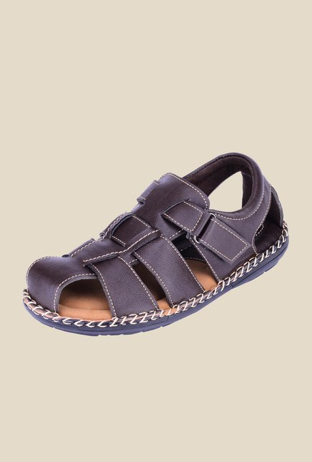 Khadim's Softouch Brown Fisherman Sandals