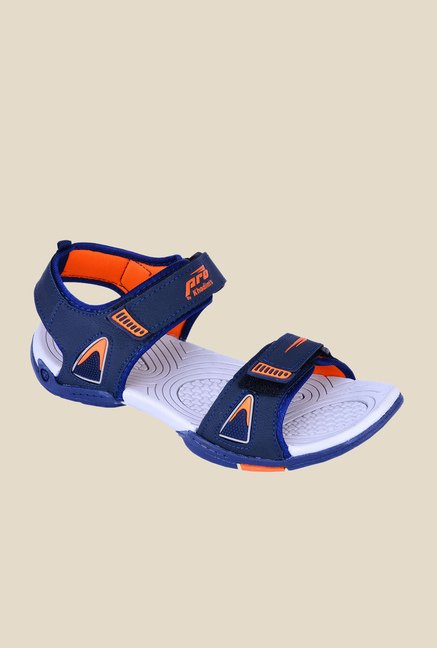 Khadim's Pro Blue & Orange Floater Sandals