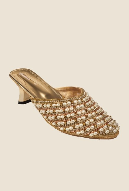 Khadim's Golden Mule Sandals