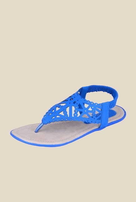 Khadim's Cleo Blue Sling Back Sandals