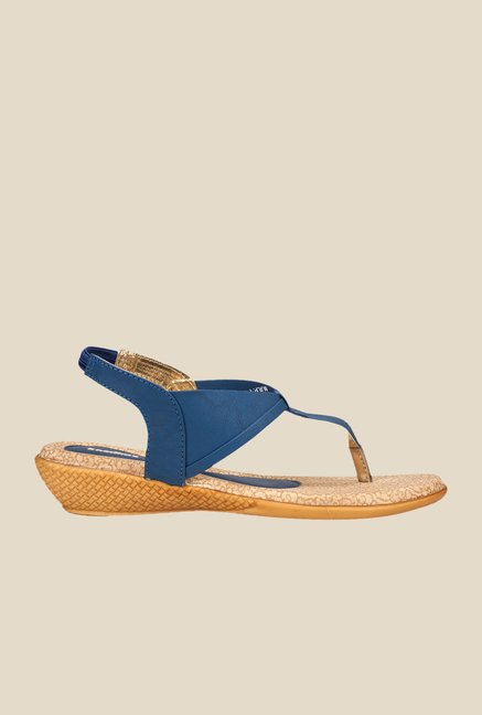 Khadim's Navy Sling Back Sandals