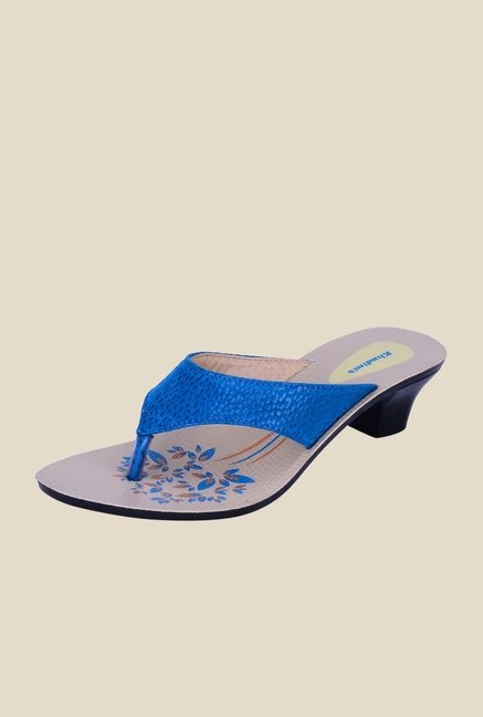 Khadim's Blue Thong Sandals