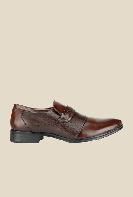 Khadim's Lazard Brown Casual Slip-Ons
