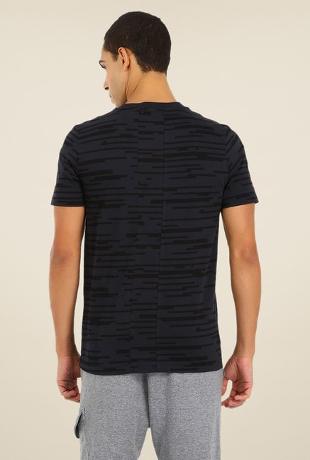 Puma Black Self Print T Shirt