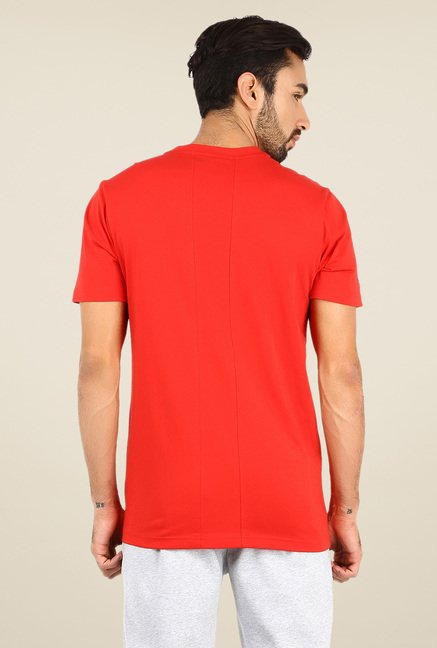 Puma Red Logo Print T Shirt