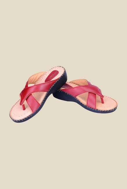 Khadim's Softouch Cherry Wedge Heeled Sandals