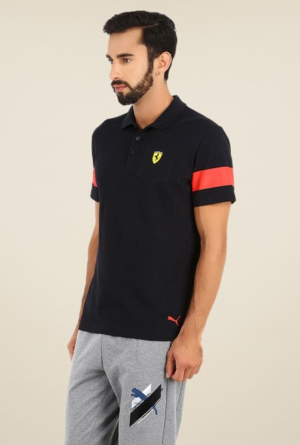 Puma Black Polo T Shirt