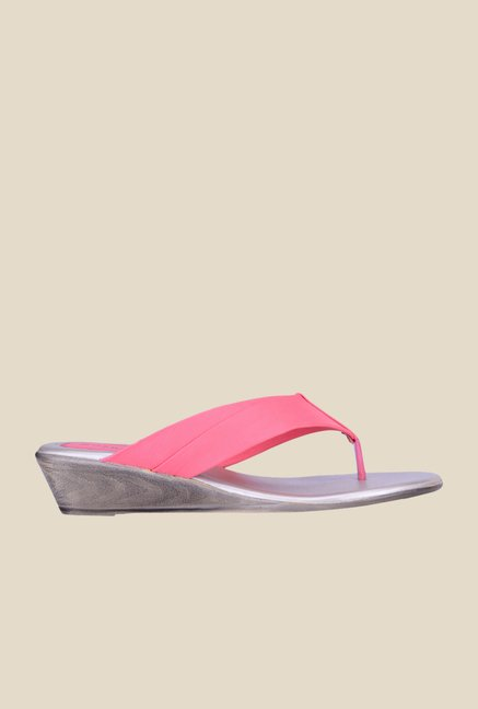 Khadim's Sharon Pink Wedge Sandals