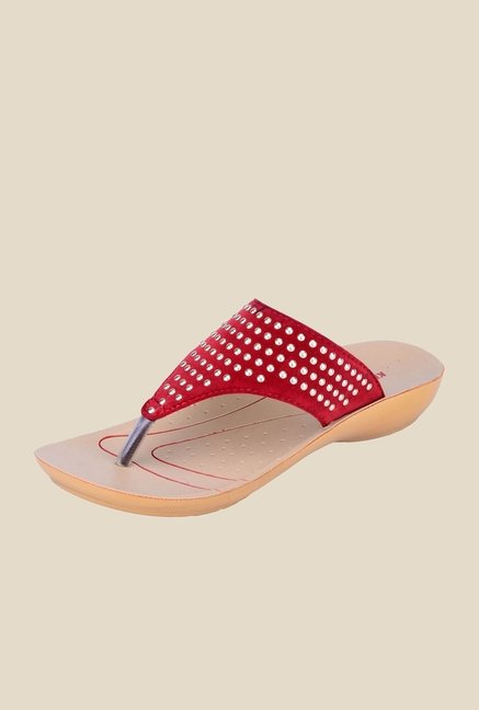 Khadim's Cherry Thong Sandals