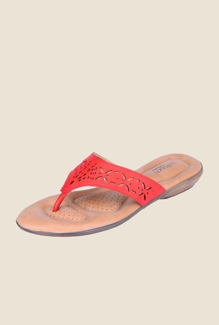 Khadim's Softouch Red Thong Sandals