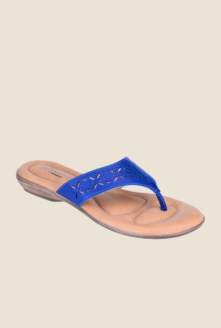 Khadim's Softouch Blue Thong Sandals