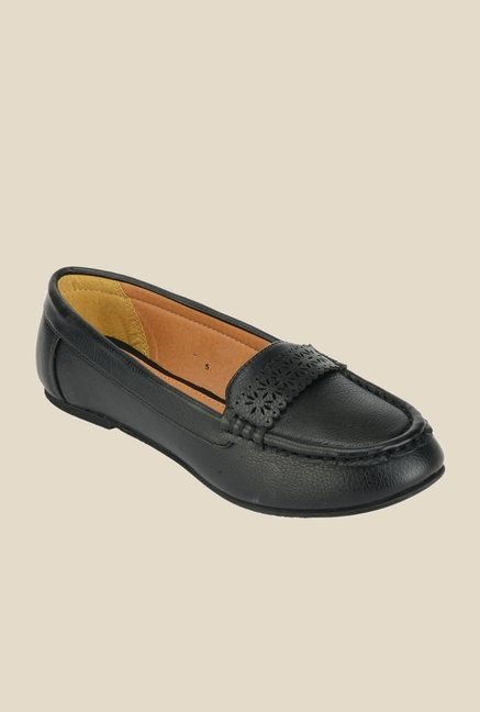 Khadim's Sharon Black Loafers