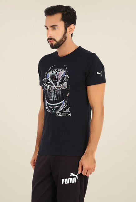 Puma Black Graphic Print T Shirt