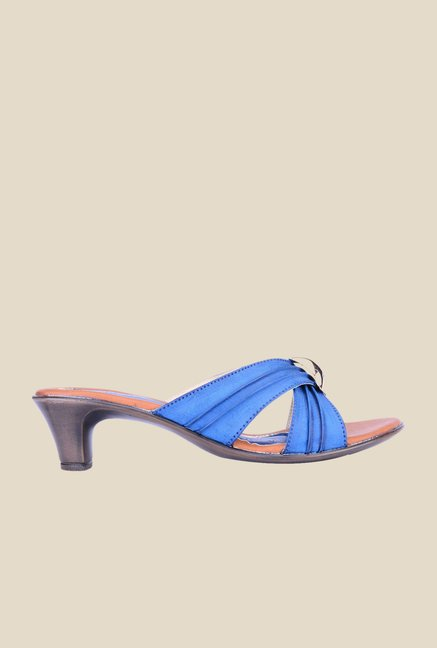 Khadim's Sharon Blue & Gold Casual Sandals
