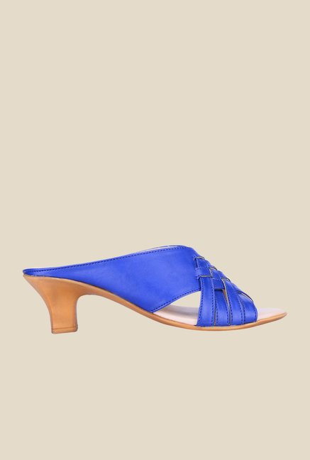 Khadim's Blue Slide Sandals