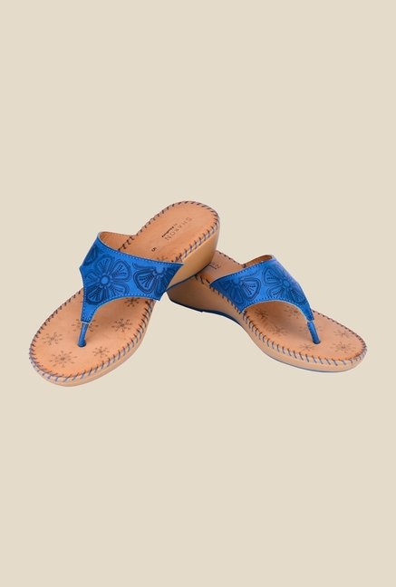 Khadim's Sharon Blue Wedge Heeled Sandals