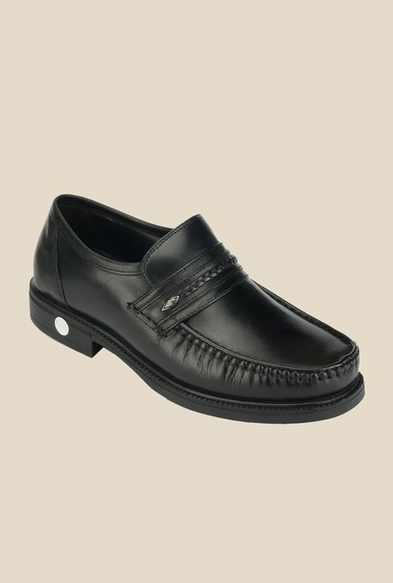 Khadim's British Walkers Black Slip-Ons
