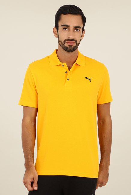 Puma Yellow Polo T Shirt