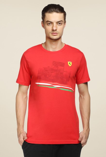 Puma Red Printed T Shirt