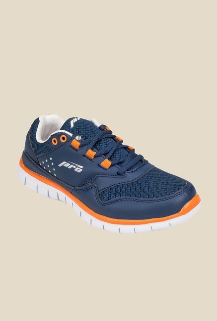 Khadim's Pro Navy & Orange Running Shoes