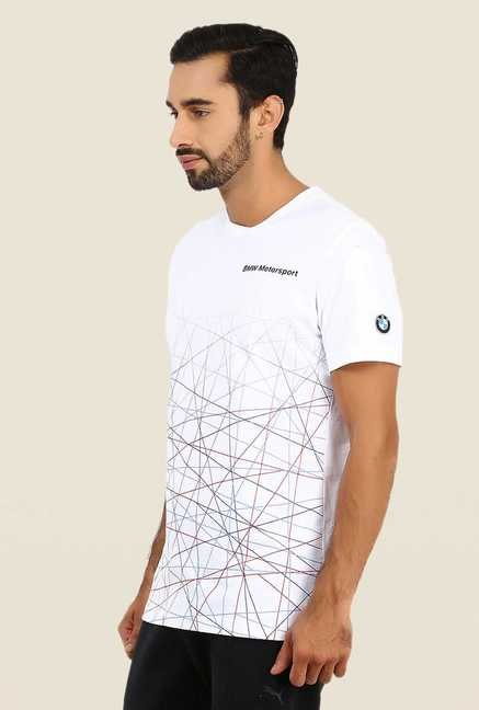 Puma White Graphic Print T Shirt
