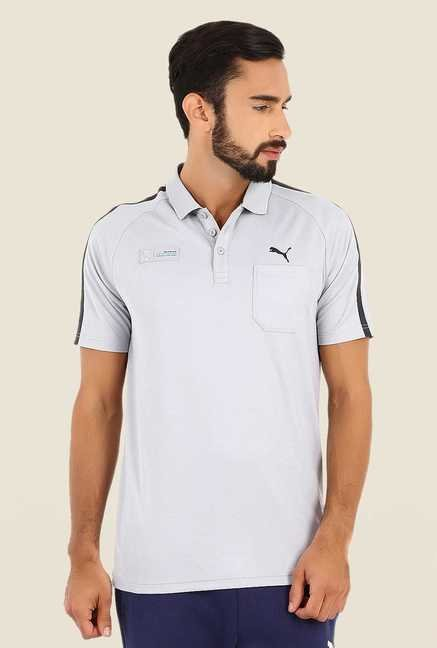 Puma Light Silver Polo T Shirt