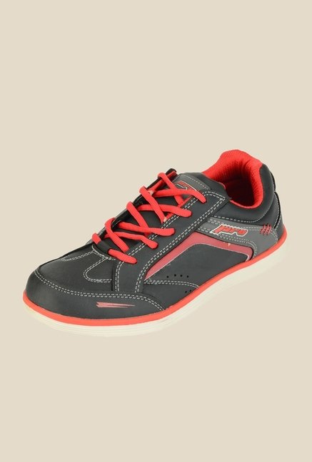 Khadim's Pro Black & Red Running Shoes