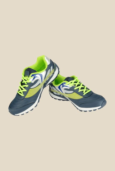 Khadim's Pro Grey & Green Running Shoes