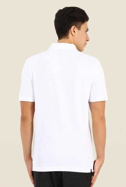Puma White Polo T Shirt