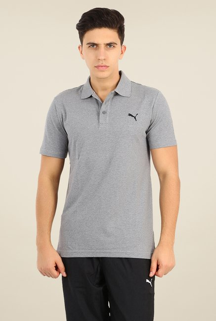 Puma Grey Polo T Shirt
