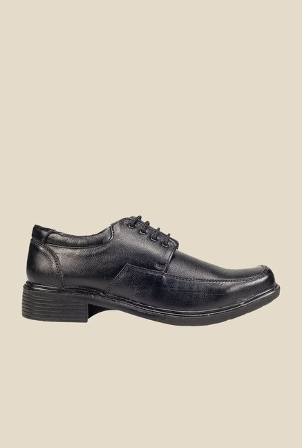 Khadim's Black Leather Derby Shoes
