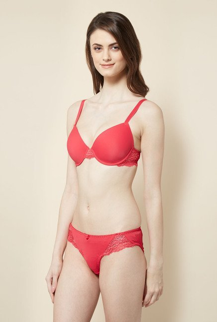 Little Lacy Coral Lingerie Set