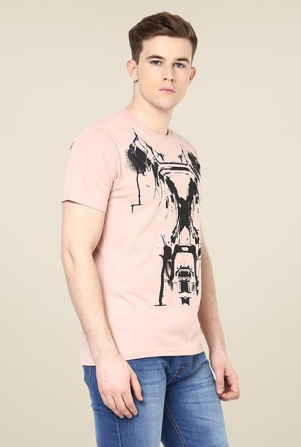 Yepme Marvel Civil War Pink Graphic Printed T Shirt