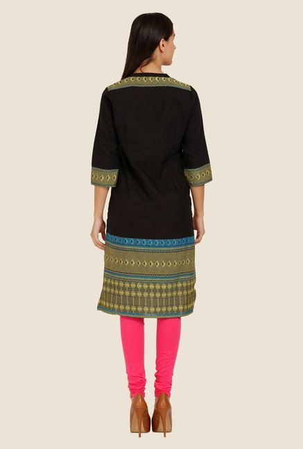 Aurelia Brown Embroidered Kurta