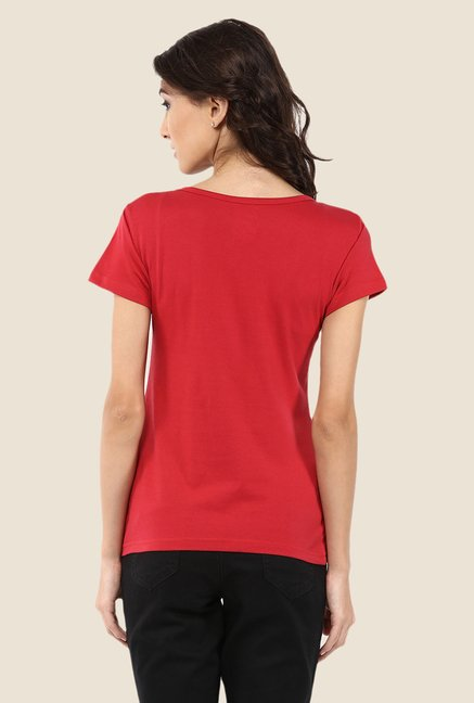 Yepme Marvel & Disney Red Graphic Printed Tee
