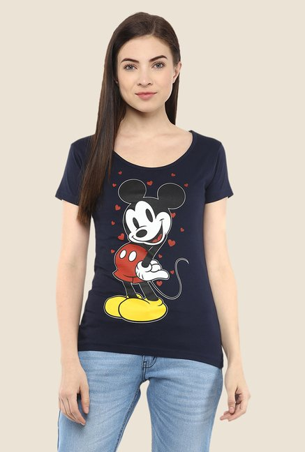 Yepme Marvel & Disney Navy Graphic Printed Tee