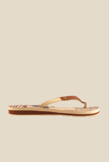 Solethreads Frenchit Beige & Brown Flip Flops