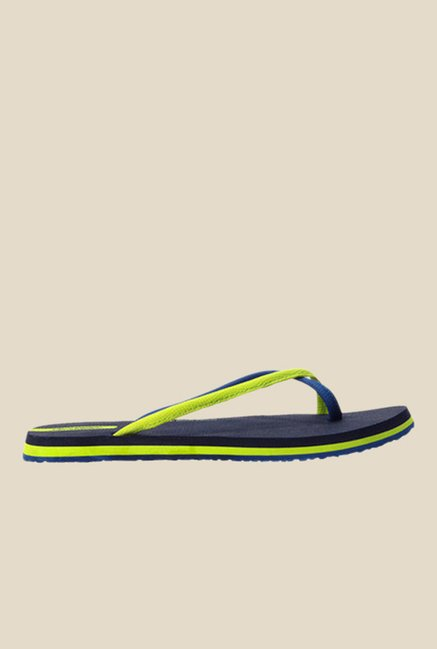Solethreads Antonia Navy & Black Flip Flops
