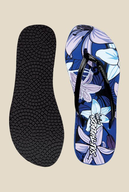 Solethreads California Black & Royal Blue Flip Flops