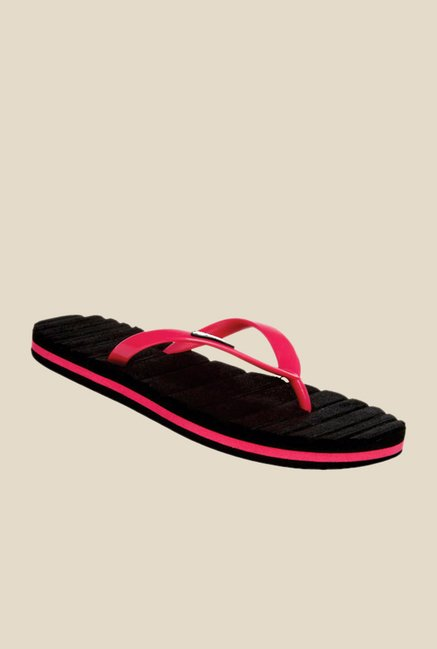 Solethreads Candy Pink & Black Flip Flops